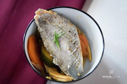 filet de dorade et ses légumes caraméliés Parentignat